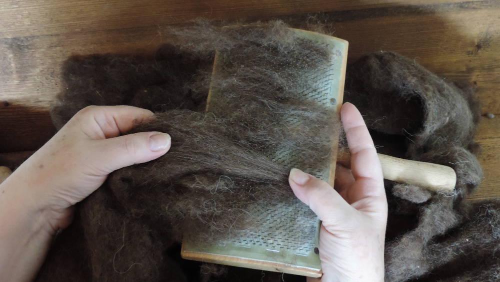 Handkarden: Wolle kardieren
